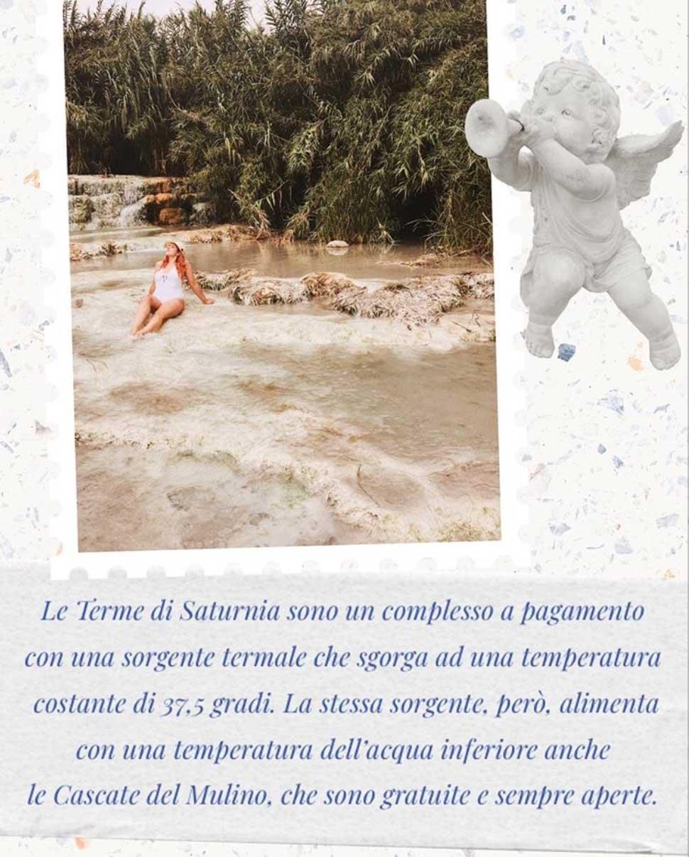 La differenza tra Terme di Saturnia e la Cascata del Mulino