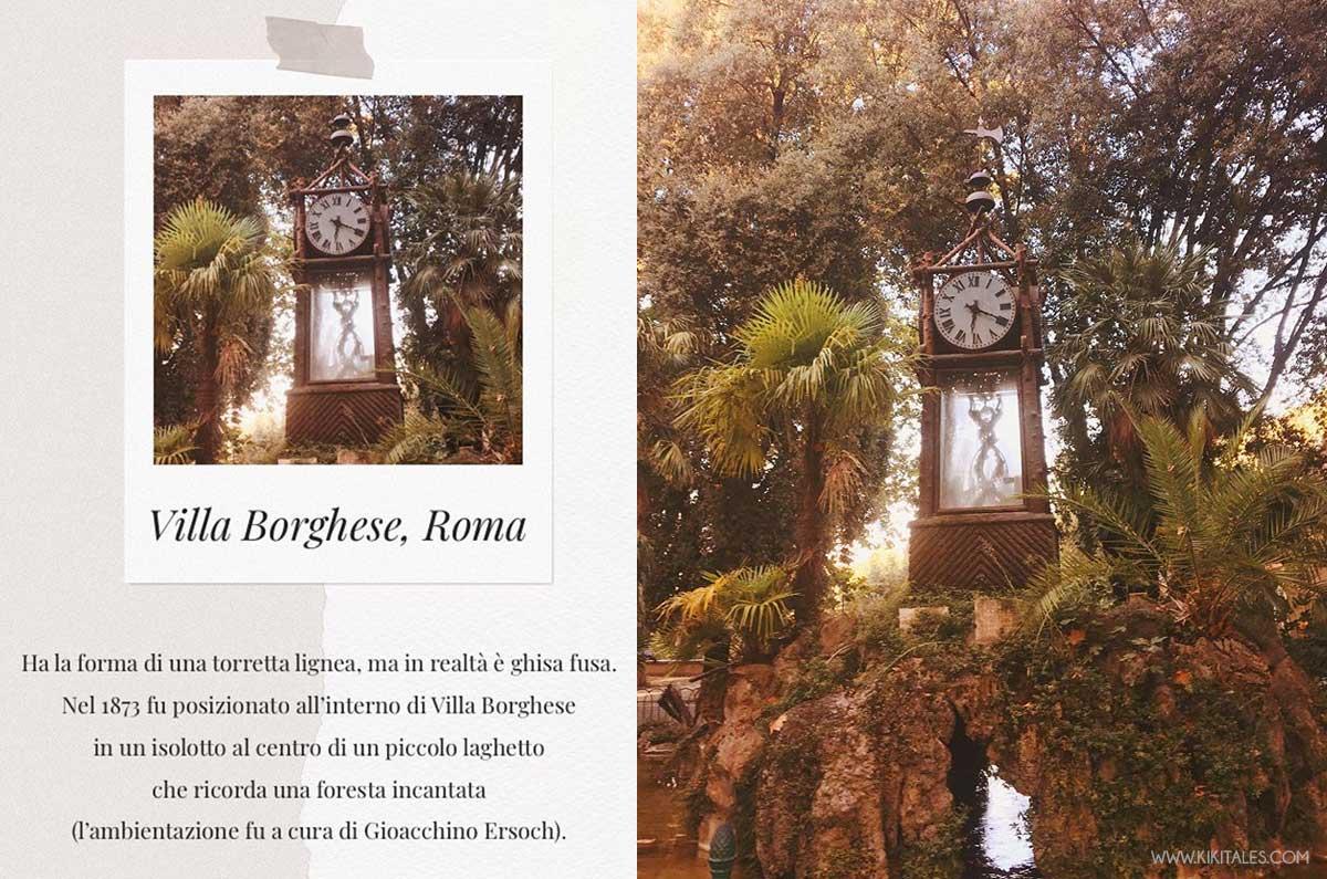 Giro romantico a Roma? Non può mancare l'orologio ad acqua del pincio, villa borghese