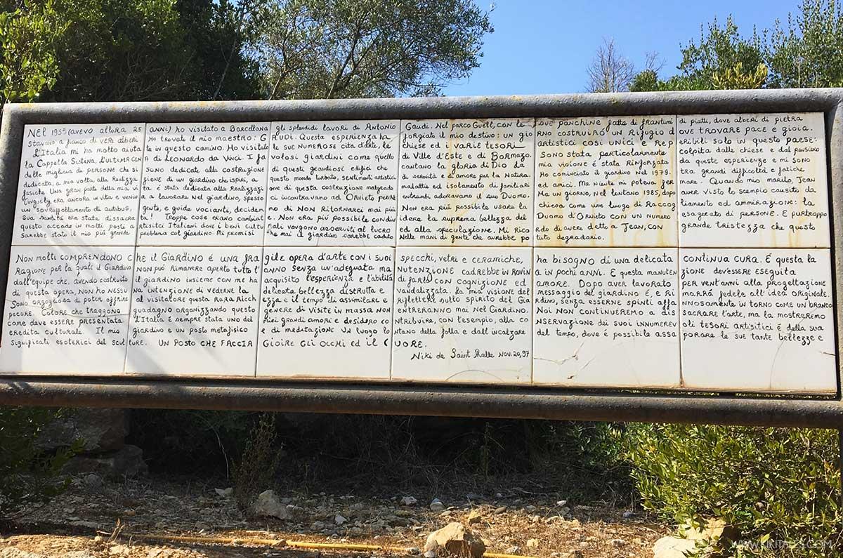 Le parole di Niki de Saint Phalle sul Giardino dei Tarocchi