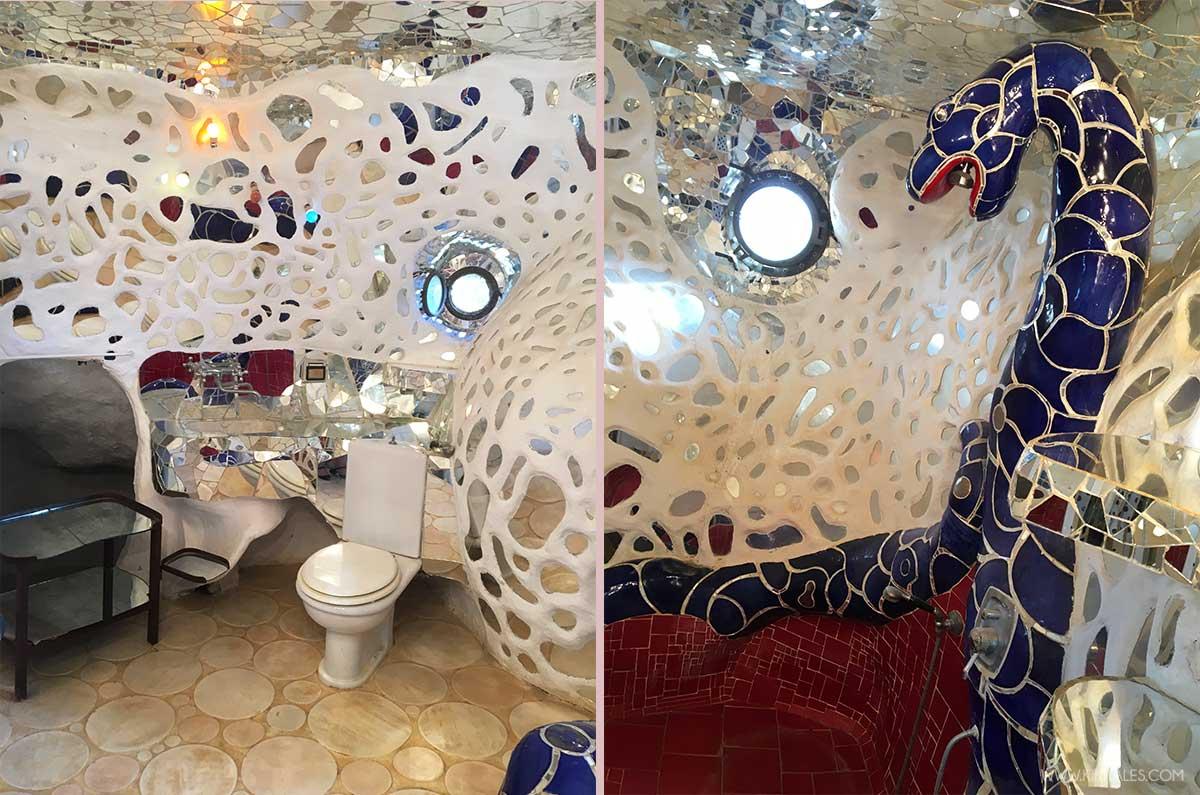 bagni strani nel mondo come quello nella casa del giardino dei tarocchi