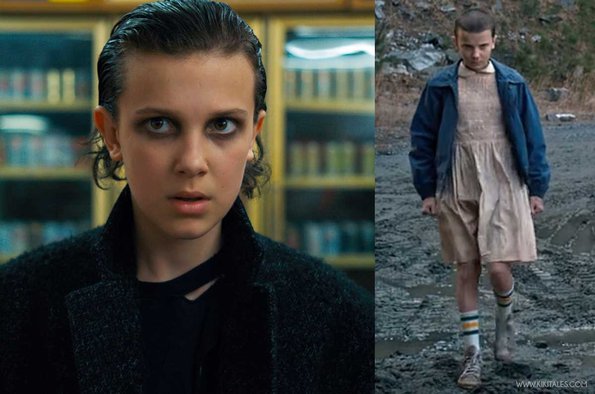 Eleven look in Stranger Things da rock star