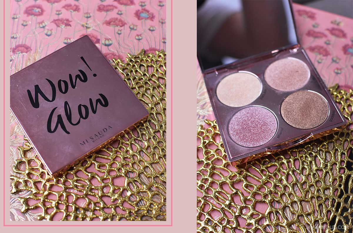 packaging palette wow glow mesauda con 4 illuminanti