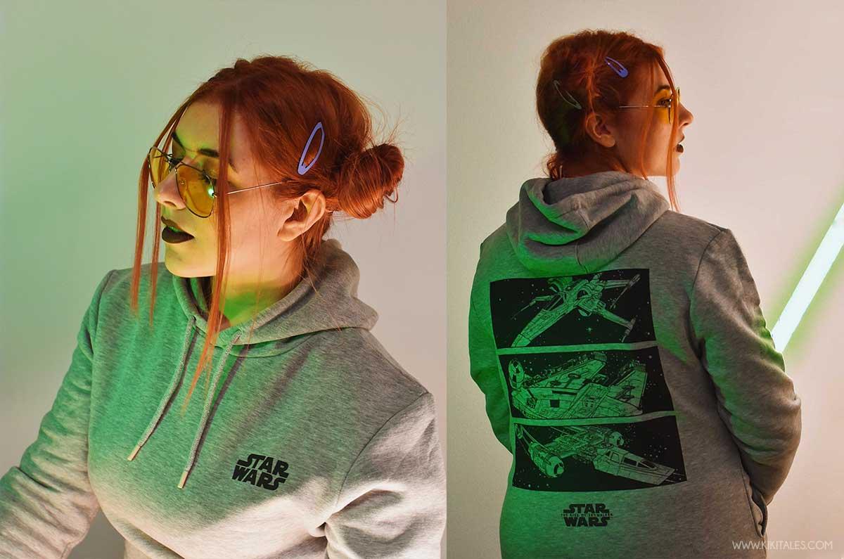 Felpa di Zavvi per il mio look Star Wars lato chiaro