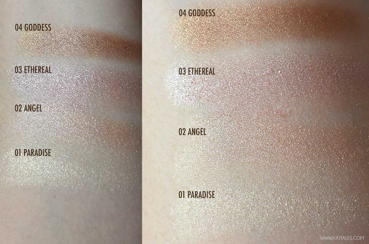 swatches illuminanti mesauda wow glow