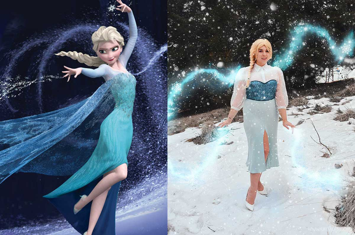 Disneybound copia il look di Elsa di Frozen