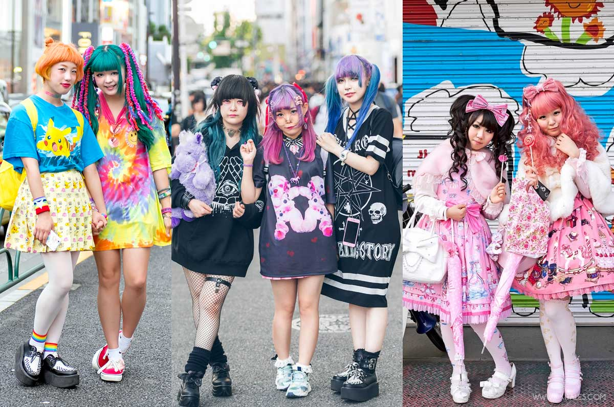 foto streetstyle di harajuku girls