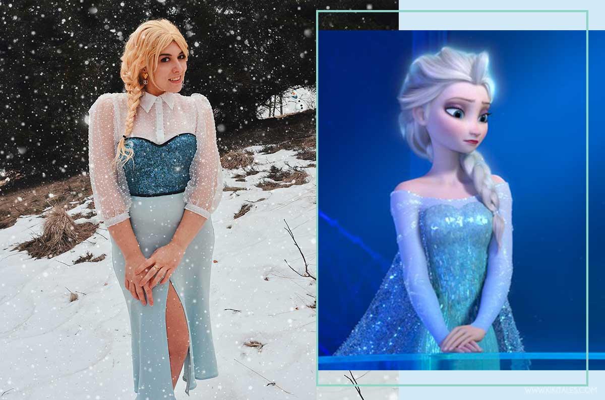 Hairstyle treccia di Elsa di Frozen