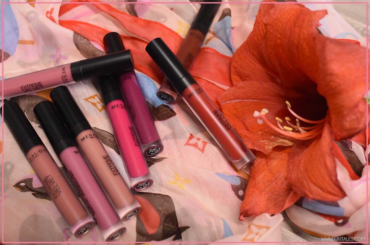 Otto colori rossetti liquidi Extreme Velvet Mesauda