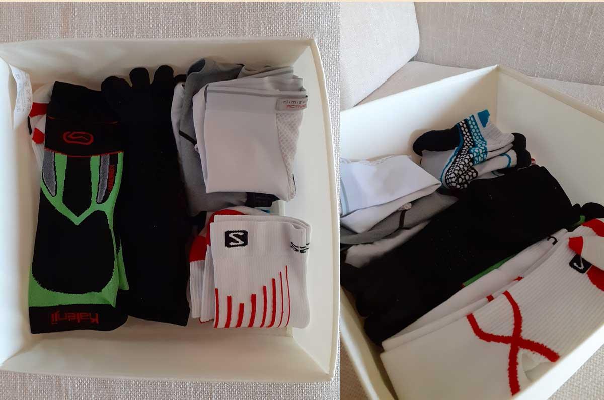 come mettere in ordine l'abbigliamento sportivo intimo