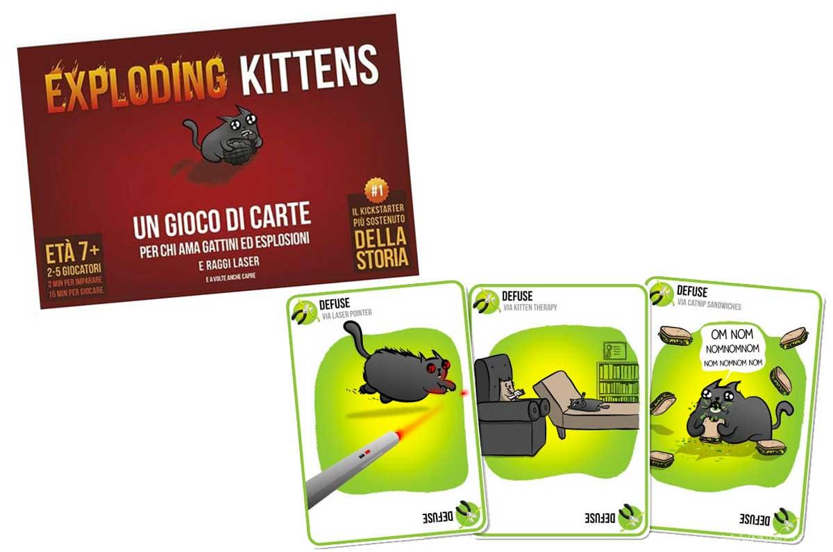 gioco da tavolo originale con carte exploding kittens