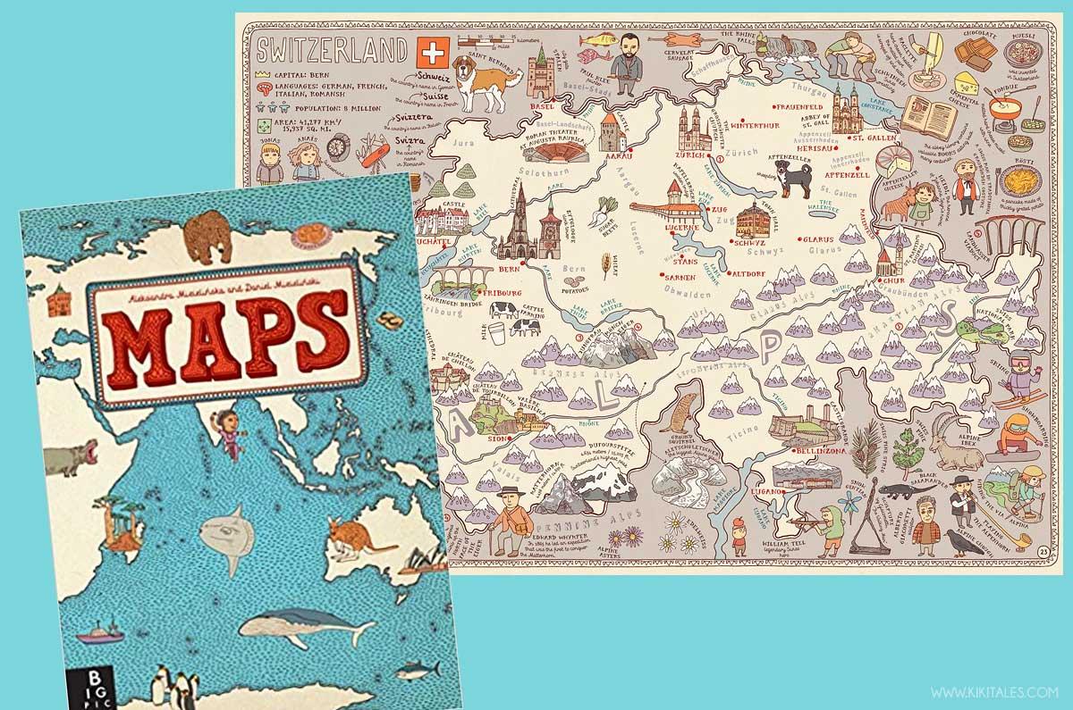 Tra i libri strani di mappe Maps per bambini e adulti