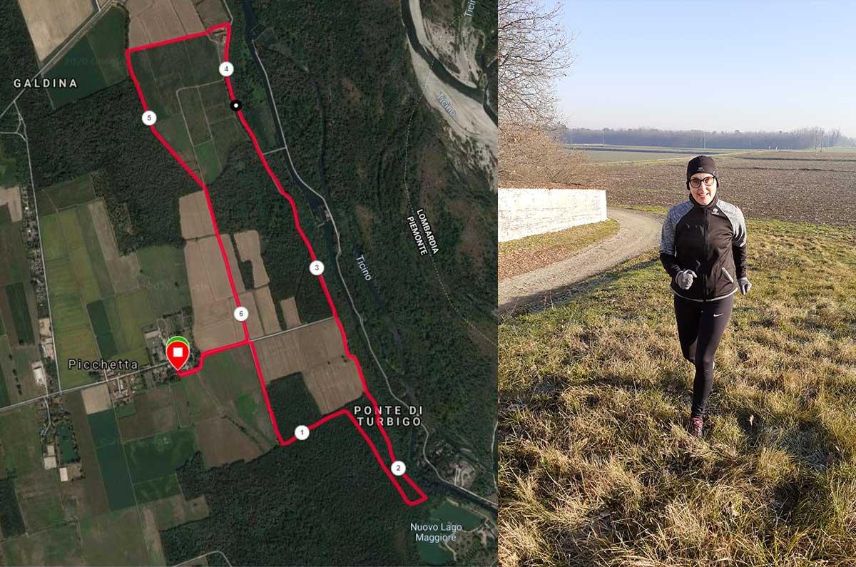 Correre in provincia di Novara a Cameri Picchetta
