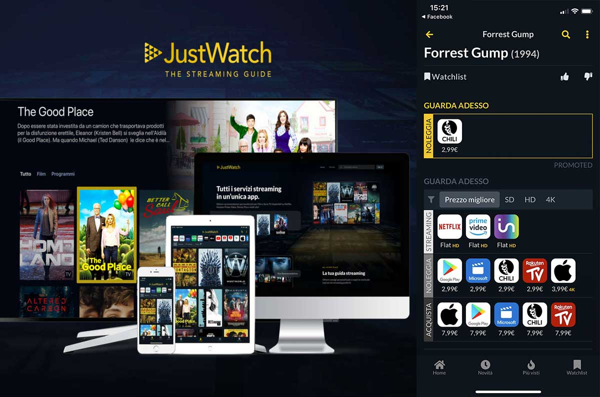 app per serie tv e film da vedere JustWatch