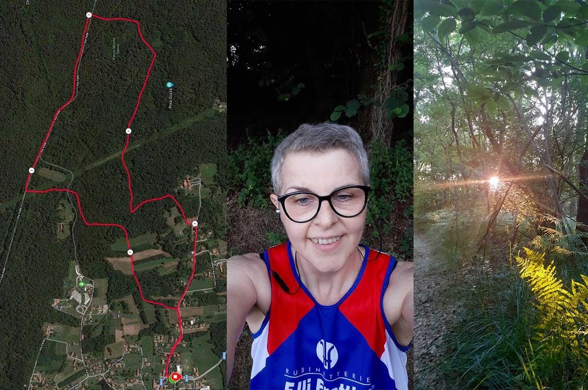correre nel parco Monte Solivo
