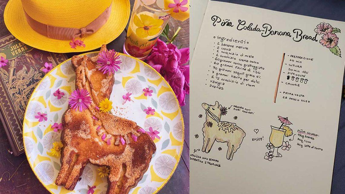 ricetta torta pina colada banana bread