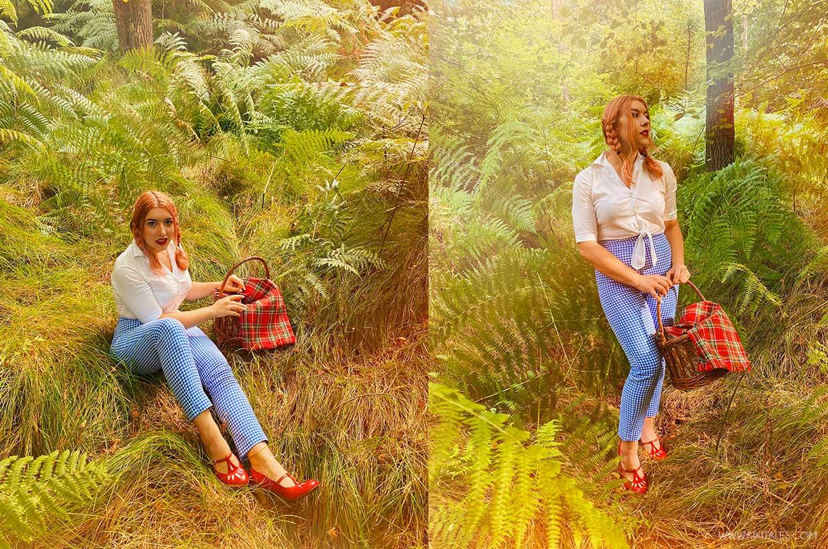 Look ispirato a Dorothy del mago di Oz con le scarpe artigianali Vladì
