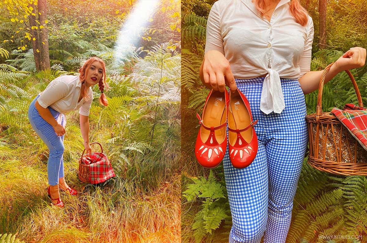 Look ispirato a Dorothy del mago di Oz con pantaloni vichy di Zara