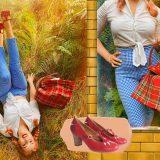 Look ispirato a Dorothy del mago di Oz con le scarpe artigianali Vladì!