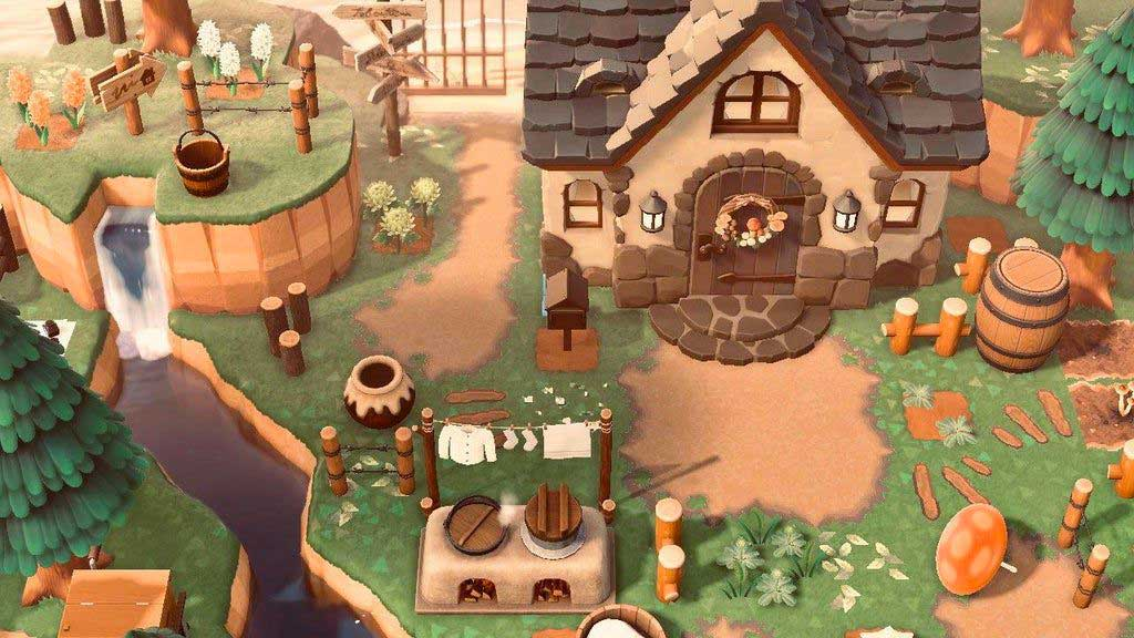 Esempio di una casa Cottagecore su Animal Crossing