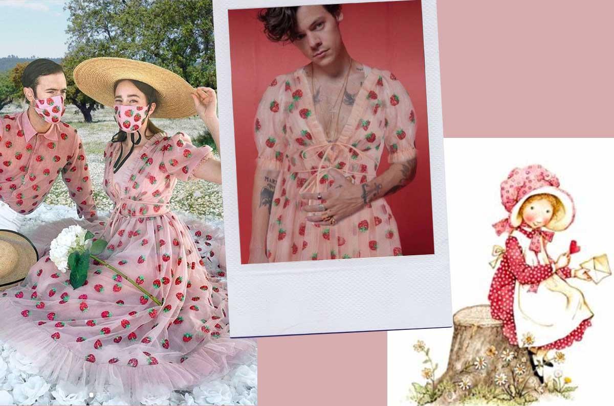 Lo stile Cottagecore e gli abiti più belli moda 2020: lo strawberry Dress di Lirika Matoshi